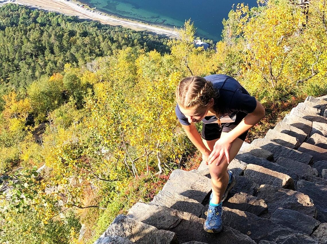Bare 13 år gamle Ingeborg Synstnes Hole slo sterke konkurrenter og satte løyperekord. (Foto: arrangøren)