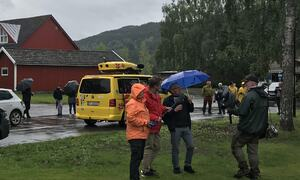Øyvind Neeraas fortalte Thamshistorie da Sommerbilen fra NRK gjestet Orkland i juli.