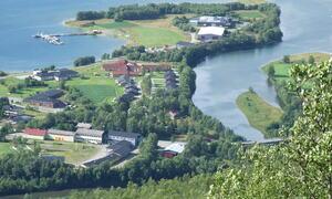 Dronebilde over Nesset ©Kåre Nygård