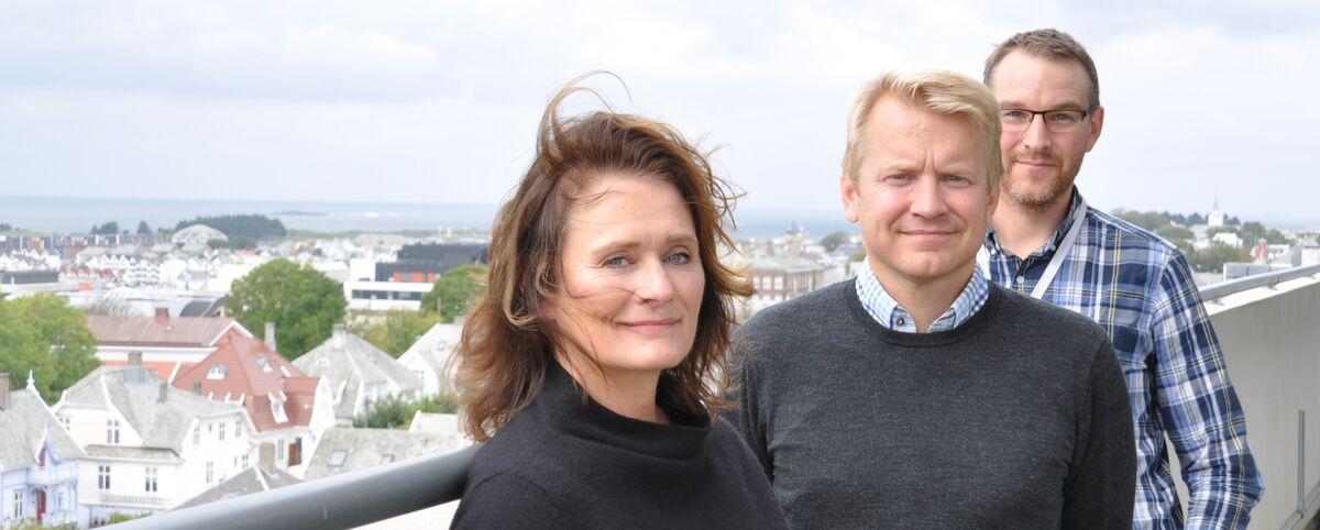 3 ledere ved Rehabilitering Vest: Lande, Dahle og Grønflaten
