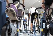 Kondisjonstrening på sykkel inngår også i våre rehabiliteringsprogrammer.