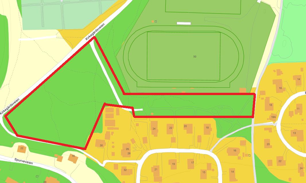 Kirkegårdsveien merket anleggsområde
