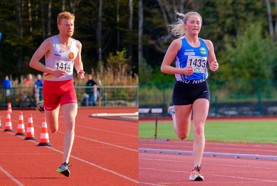 Mats Hauge og Thea Hovda vant den 9,3 km lange Djupadalten i Haugesund. (Alle foto: Ivar Fjeldheim)