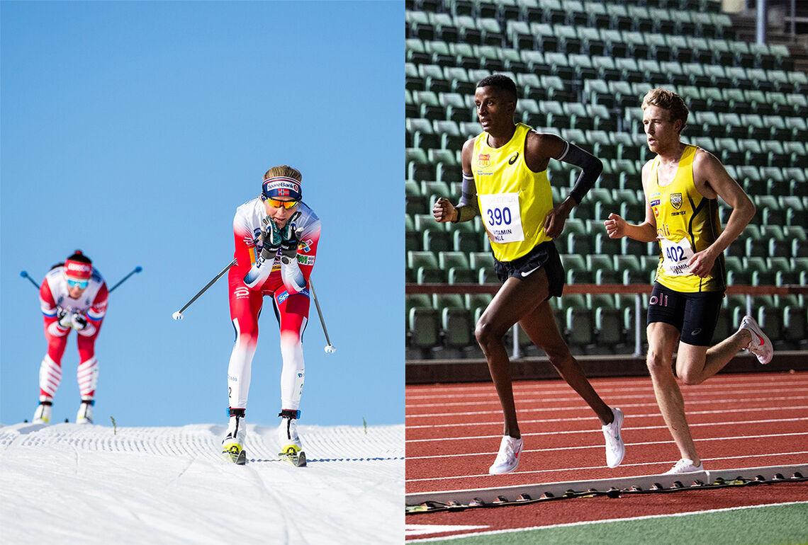 Læring: Hva kan langrennsløpere lære av løpere, og hva kan løpere lære av langrennsløpere? (Foto: Sylvain Cavatz og Samuel Hafsahl)