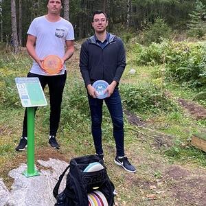 Christian og Kristian Rælingen Frisbeegolf