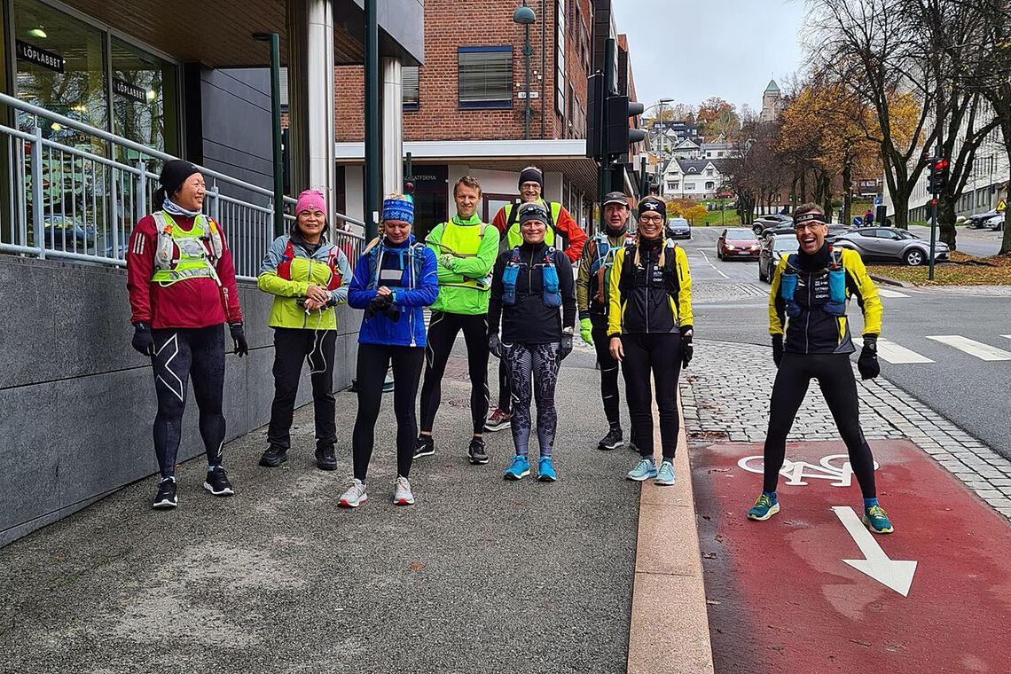 Klar til start i Drammen for å løpe til Sandvika (Alle foto: arrangøren)