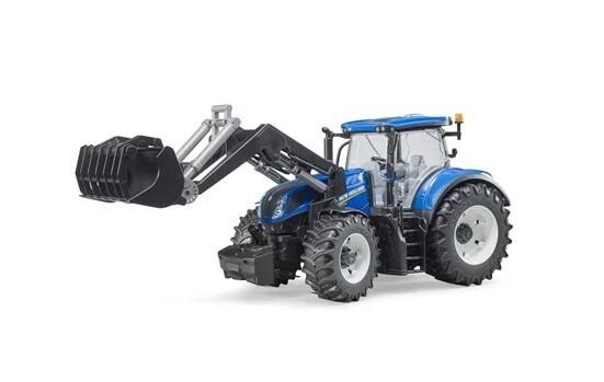 blå traktor