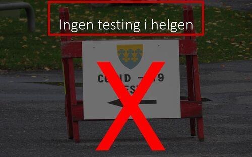 Ingen testing i helgen - Rakkestad kommune informerer