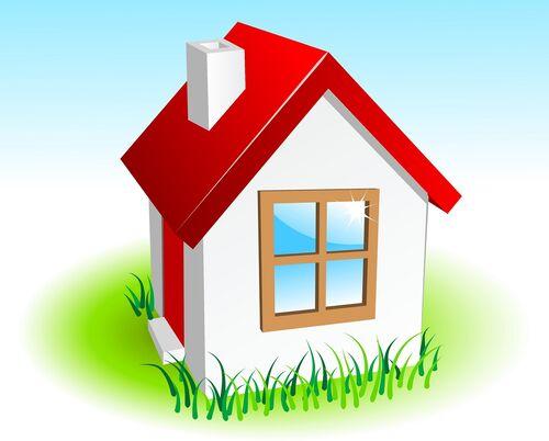 Hus illustrasjon Colourbox