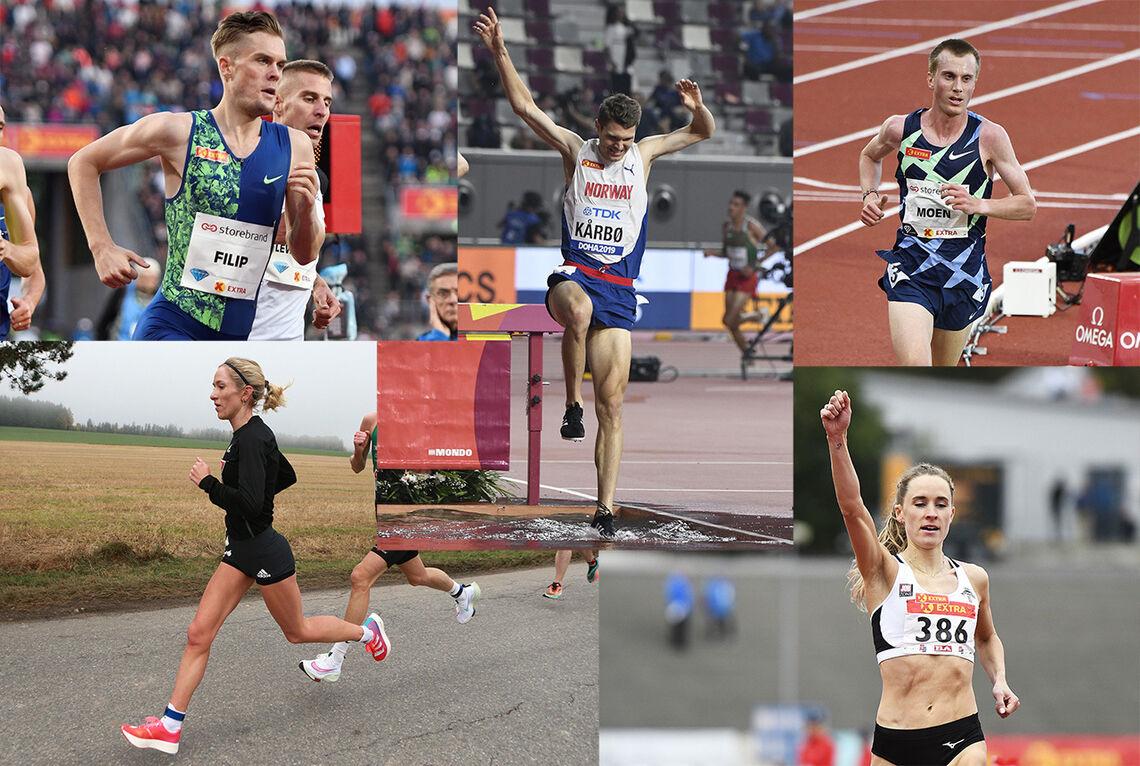 Hva er sesongpause og hvordan praktiseres den? Flere av våre løpestjerner forteller hva de tenker om temaet. (Foto: Kjell Vigestad og Bjørn Johannessen)