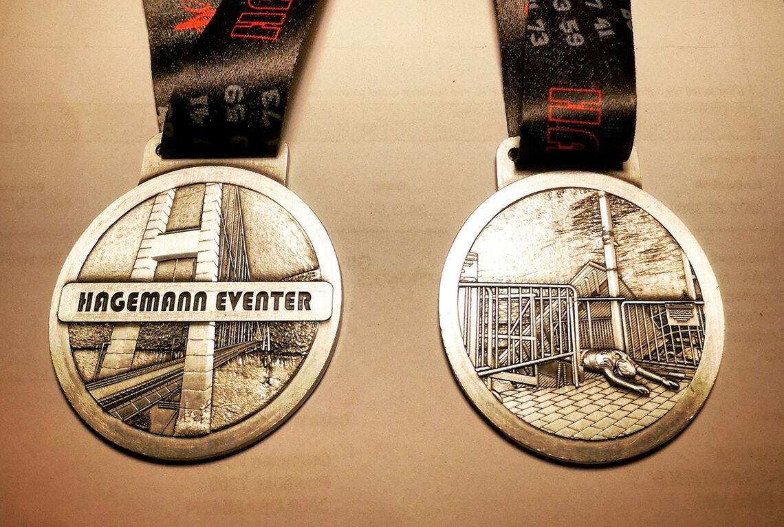 Medaljen for Hagemanns primtalløp. (Foto: arrangøren)