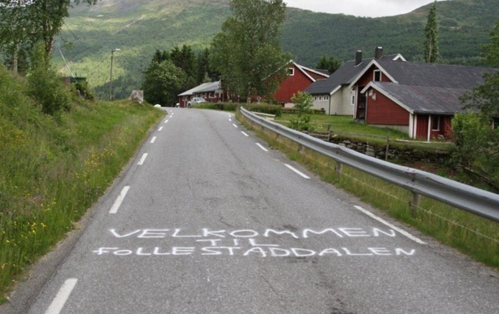 Velkommen til Follestaddalen. Foto: Martin Hauge-Nilsen
