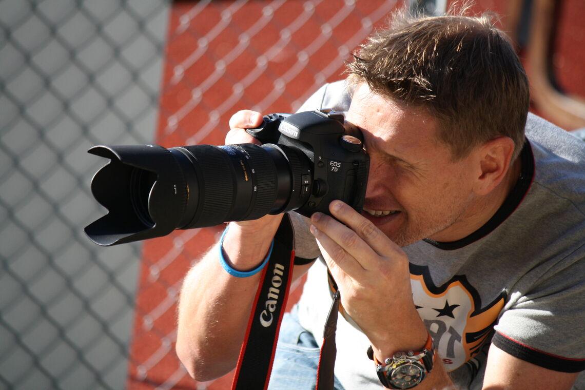 Bjørn i aksjon med fotografering for kondis.no i 2012 (Foto: Maja Samsonstuen)