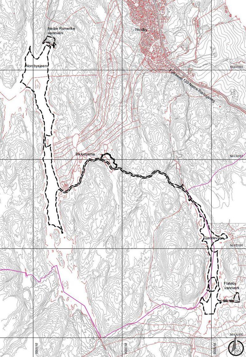 Kunngjøring Flateby vannverk - Varslingskart A3