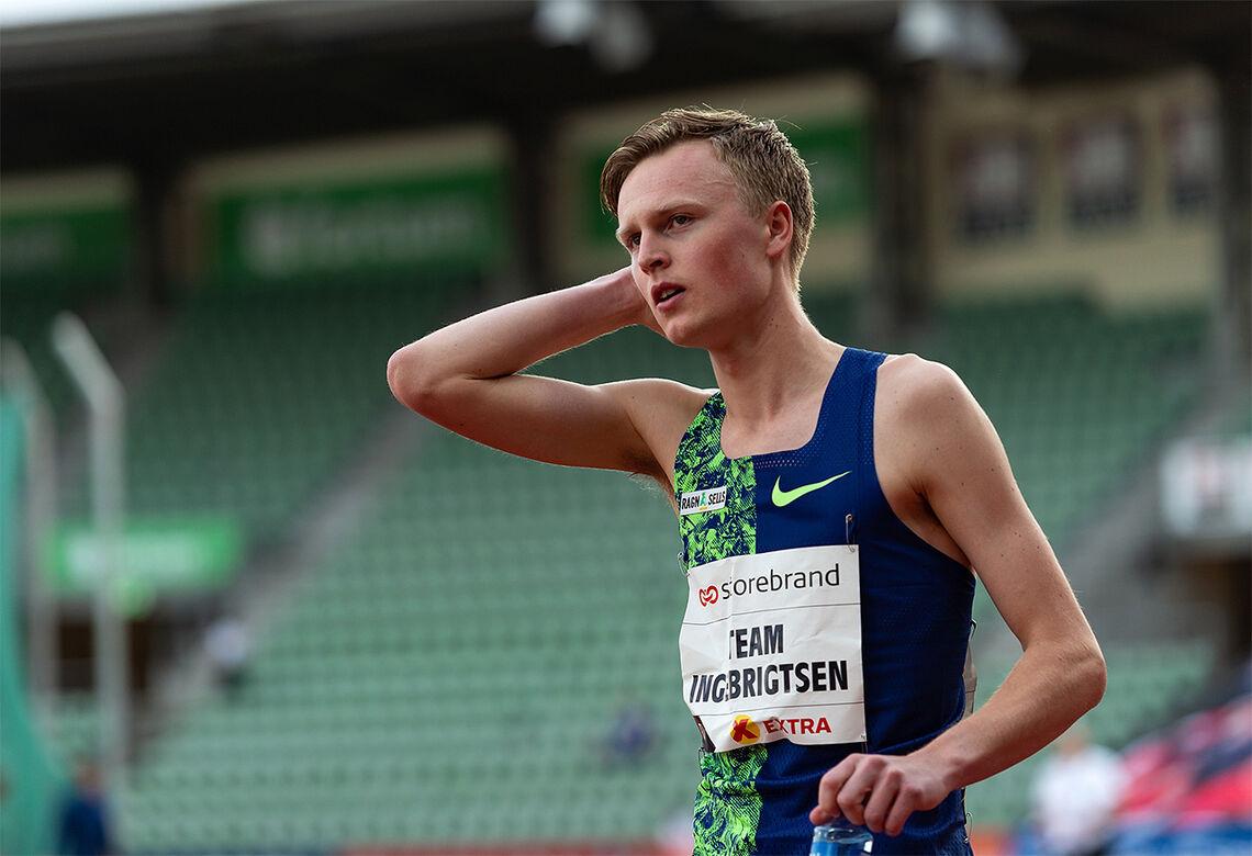 Fin framgang: Narve Gilje Nordås har heva seg enda et hakk etter at han ble et fullverdig medlem av Team Ingebrigtsen. (Foto: Samuel Hafsahl)