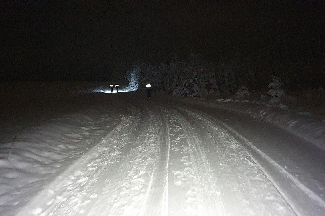 Ren og hvit vinteridyll i Snøkutens 3. løp for sesongen. (Foto: Stein Arne Negård)