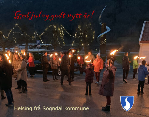 Julekort Sogndal