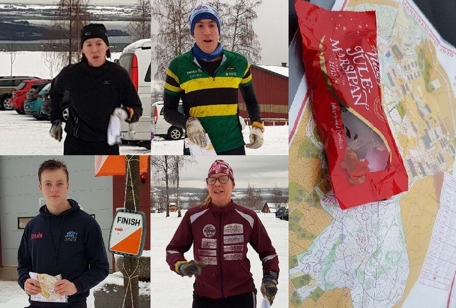 Øverst vinnerne av lang løype, Kristine Sollien Flaskerud og Sander H. Rogndokken. Nederst vinnerne av mellomløypa Lars Lien og Hege Solerød.