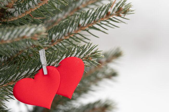Bilde av julehjerter