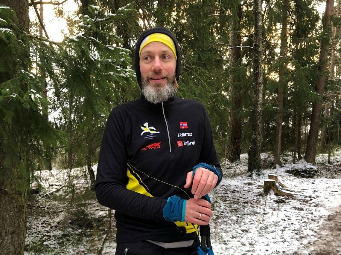 Asgeir Peder Hjorthaug mot slutten av løpsdøgnet. (Foto: Tone Yvonne Killengreen)