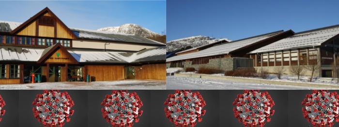 Kulturhusa med koronabård