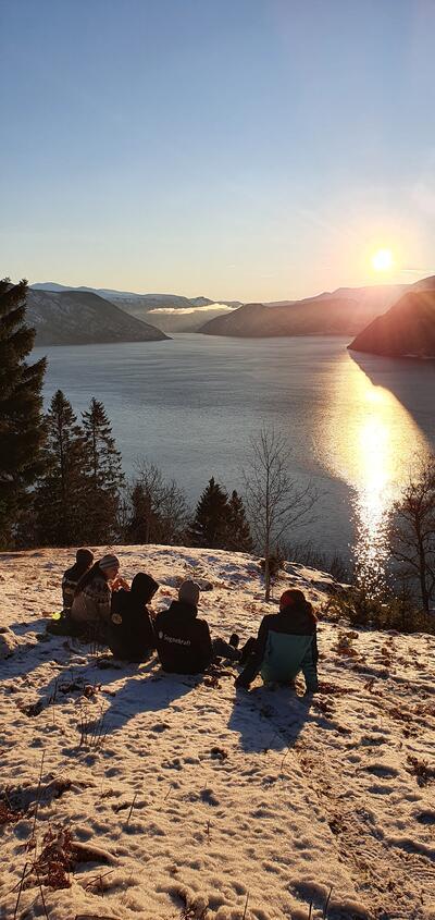 Frå Hallandsberget mot Fresvik