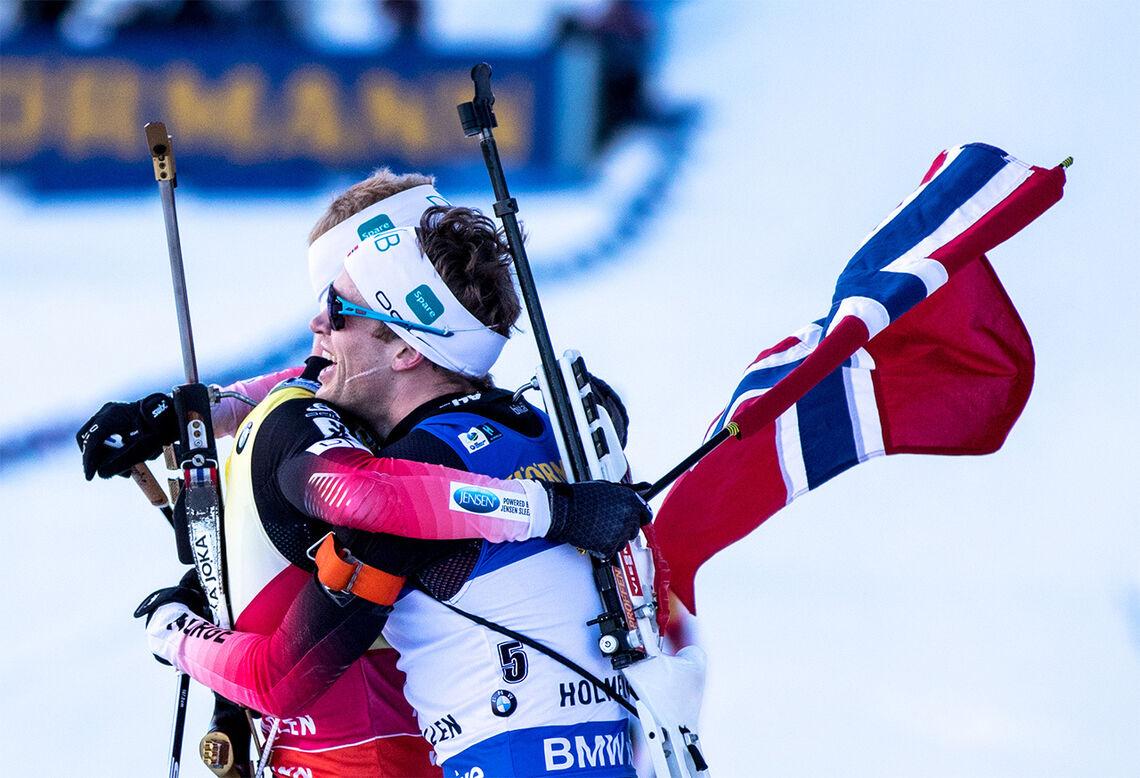 Medan det norske langrennslaget stort sett har meldt avbod til verdscuprenna, har skiskyttarane vori med. (Foto: Sylvain Cavatz)