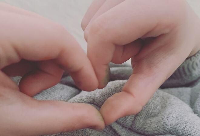 Hjerte av fingre, Jonas  5 år Løkken