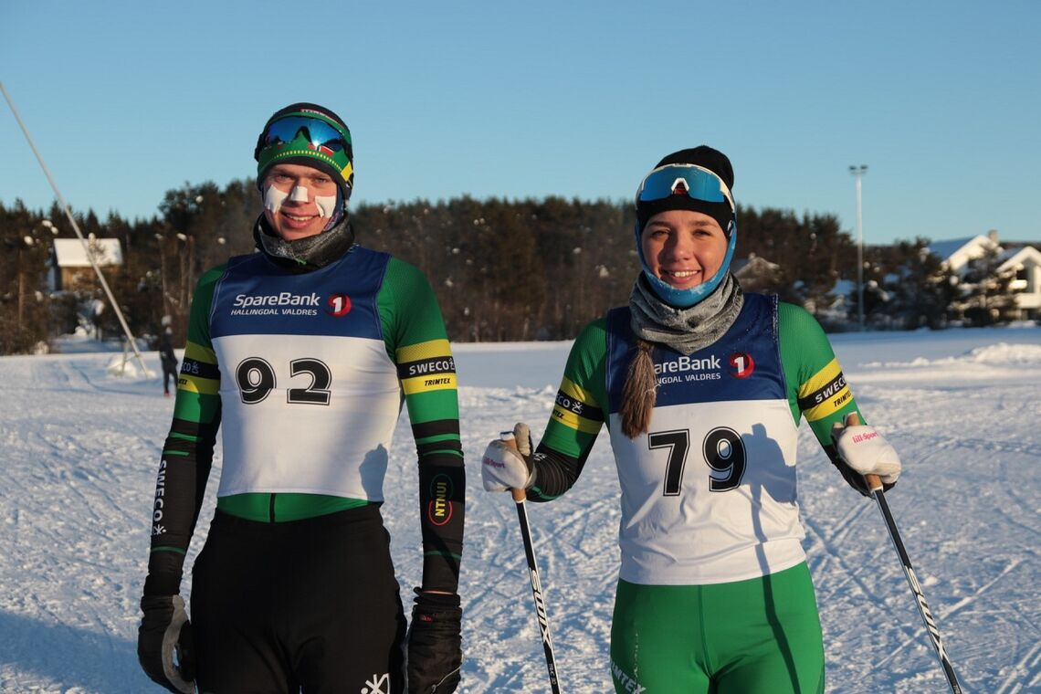Olaf Talmo og Frida Øygard, begge Team NTNUI Sweco, etter lørdagens triumf på Geilo. (Alle foto: Arne Dag Myking)
