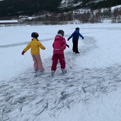 I gang på isen