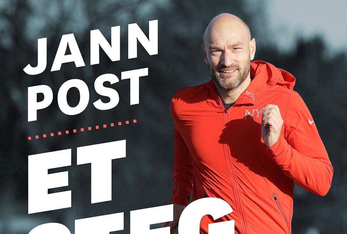 Sportskommentator i NRK, Jann Post, har skrevet en personlig og fengende løpebok kalt Et steg foran. (Omslagsfoto: Bjørn Hytjanstorp)