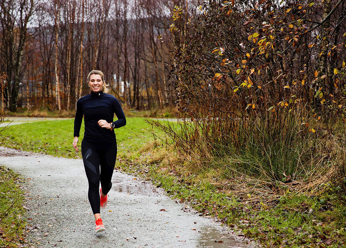 Trude Håland løper daglig og finner fine traseer ikke langt fra der hun bor i Sandnes.