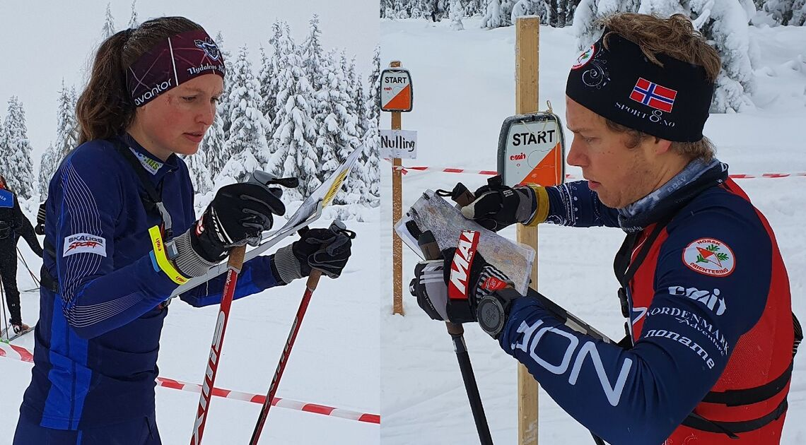 Anna Ulvsøen og Audun Heimdal på start i  førjuls ski-o på Sjusjøen tidligere i vinter. (Foto: Stein Arne Negård)