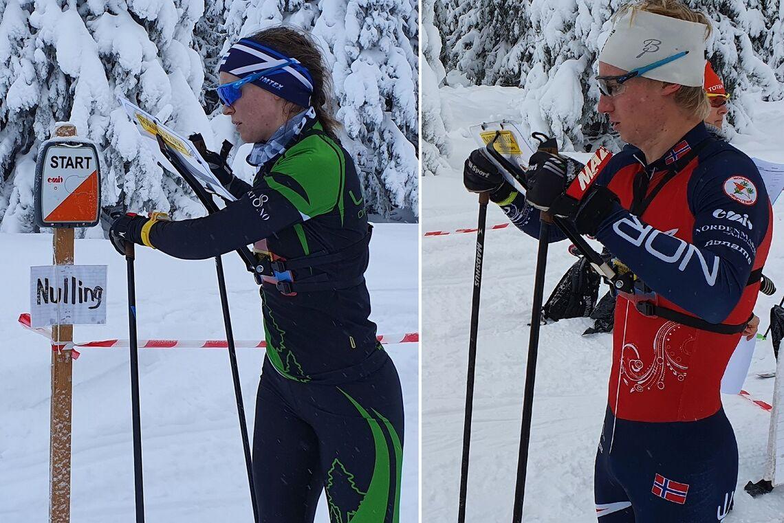 Evine Westli Andersen og Jørgen Baklid under førjuls ski-o på Sjusjøen i 2020. (Foto: Stein Arne Negård)
