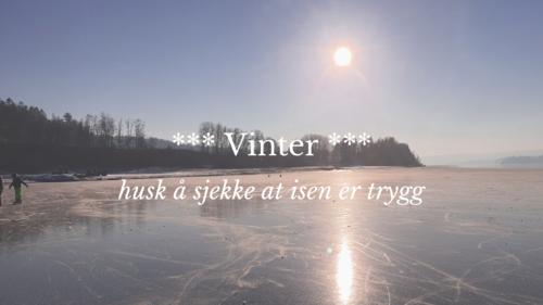 Husk å sjekke at isen er trygg