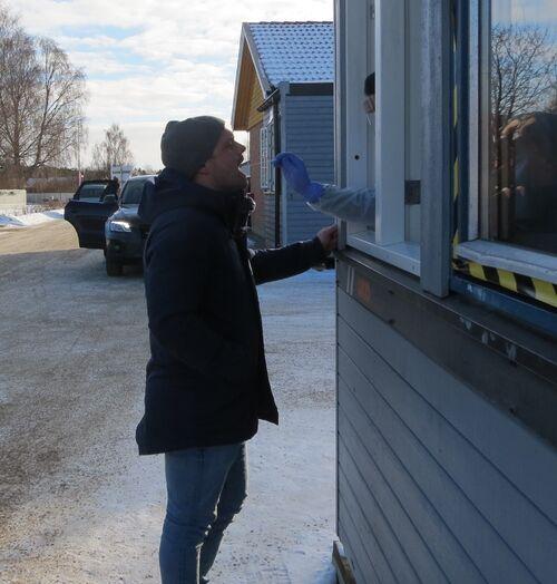 Odd Herman Bjørnstad tok test nr 8129 i Rakkestad