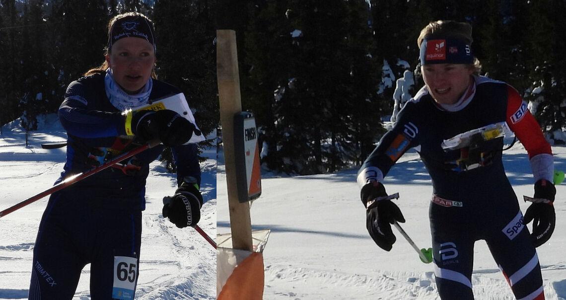 Norgesmestere på mellomdistansen anno 2021: Anna Ulvensøen og Jørgen Baklid.