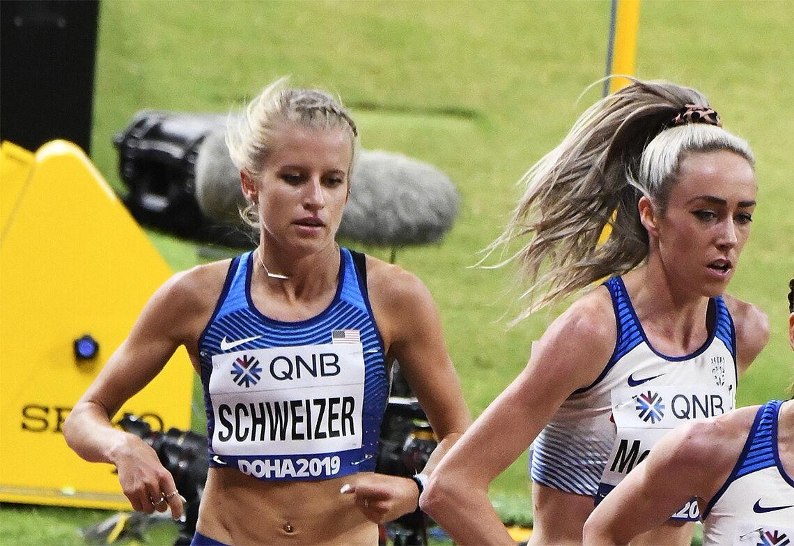 Karissa Schweizer ble nummer to og Eilish McColgan nummer tre, begge på klar ny pers. (Arkivfoto: Bjørn Johannessen)