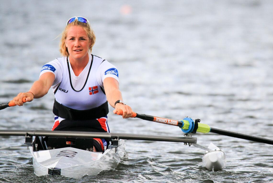 Som en del av oppkjøringen til sommerens OL, hvor Birgit Skarstein skal delta i roing, satte hun i dag verdensrekord i innendørsroing.(Arkivfoto: Caroline Dokken Wendelborg/NIF)