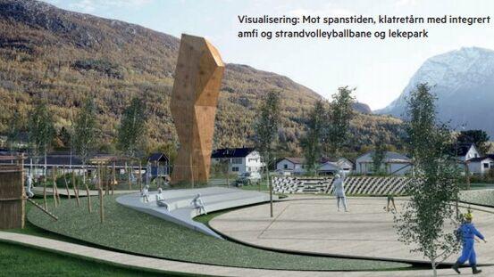 Visualisering av Elveparken