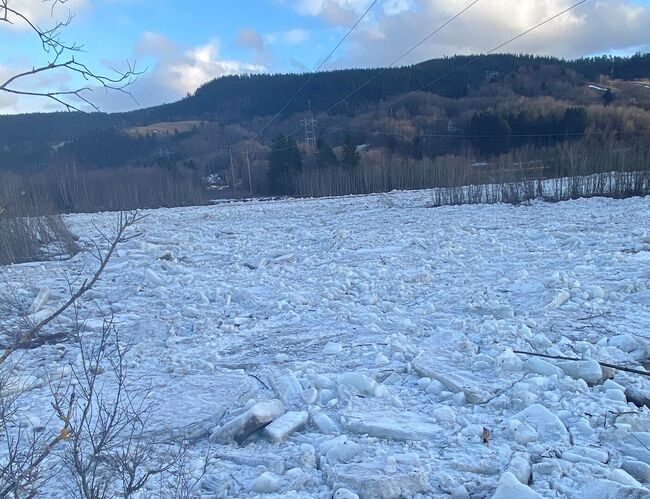 Bilde av isen på Blåsmo