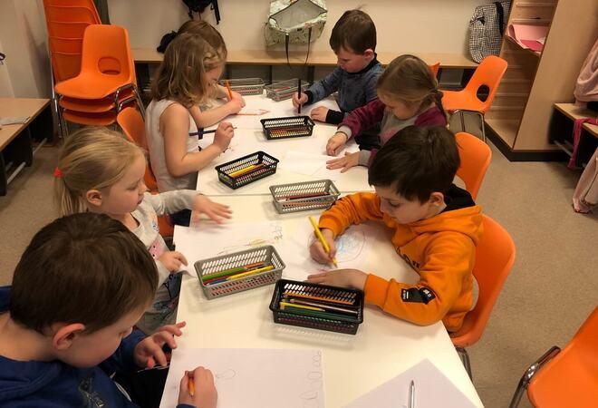 Bilde av barn i Grøtte barnehage