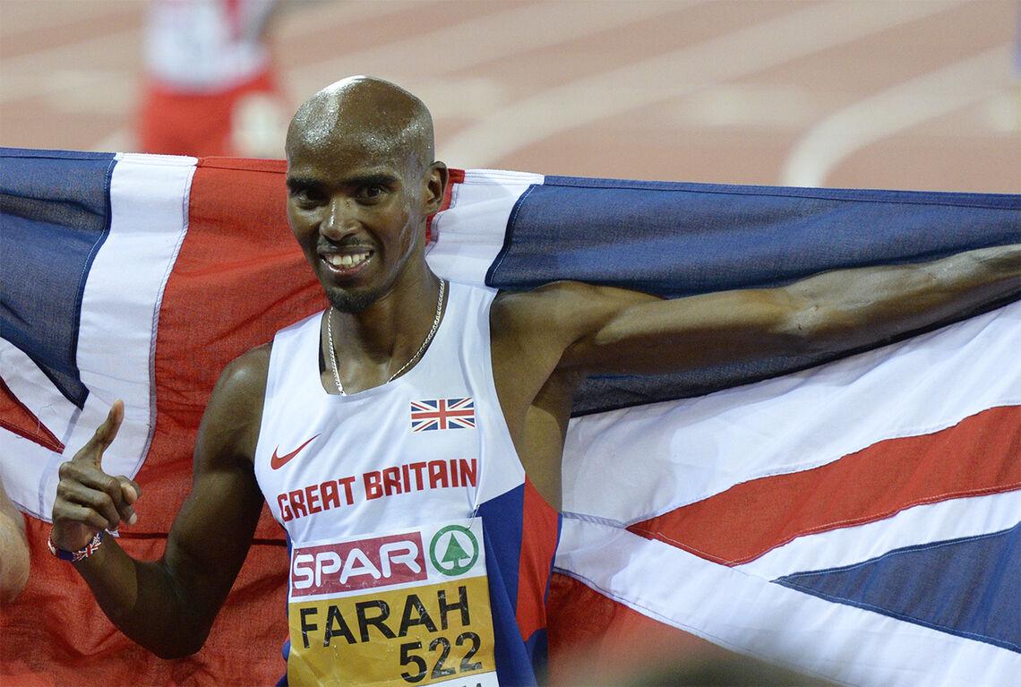 Mo Farah sikter mot 10 000 m-løpet i OL i Tokyo. Nå fikk han god trening på overdistanse. (Arkivfoto: Bjørn Johannessen)