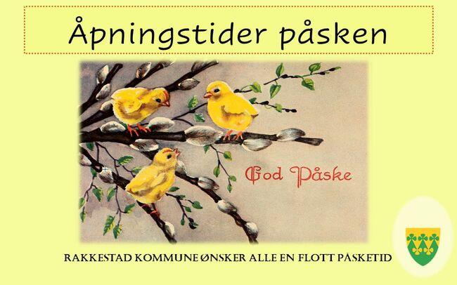 God påske fra Rakkestad kommune - info åpningstsider