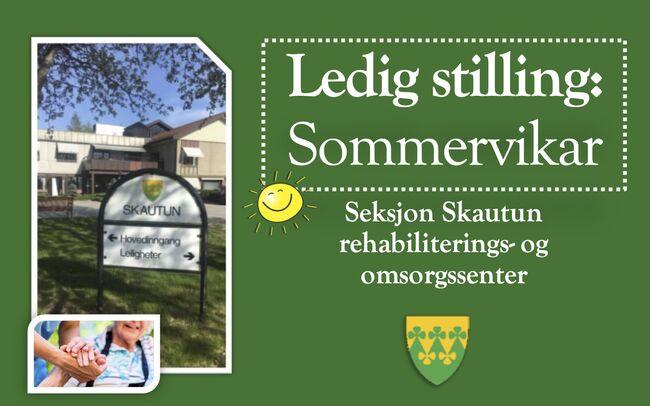 Ledig stilling sommervikar ved seksjon Skautun omsorgs- og rehabiliteringssenter - Rakkestad kommune