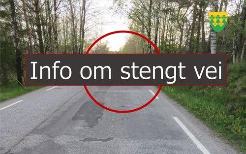Informasjon om stengt vei i Rakkestad kommune