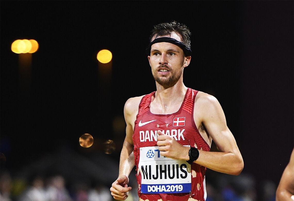 Thijus Nijhuis løp maraton for Danmark under VM i Doha i 2019 og ble nummer 31 med 2.18.10 under varme forhold. (Foto: Bjørn Johannessen)