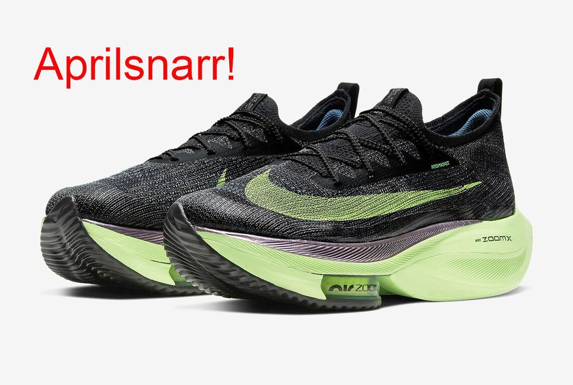 Nike Alphafly er i hvert fall fortsatt supersko. (Foto: Nike, fotomontasje Arne Dag Myking)