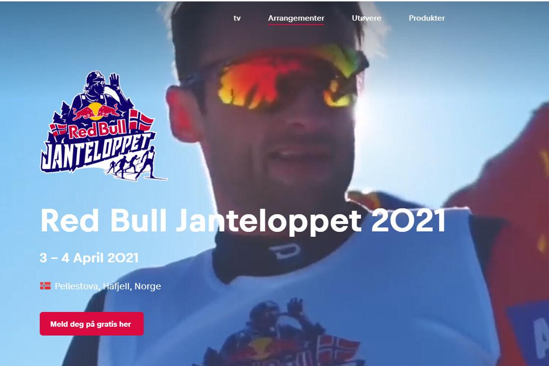 Red Bulls Janteloppet er i år et rent Strava-løp som går over to dager. Petter Northug er en av profilene her, både i markedsføringen og i løypen. (Foto fra arrangørens side)