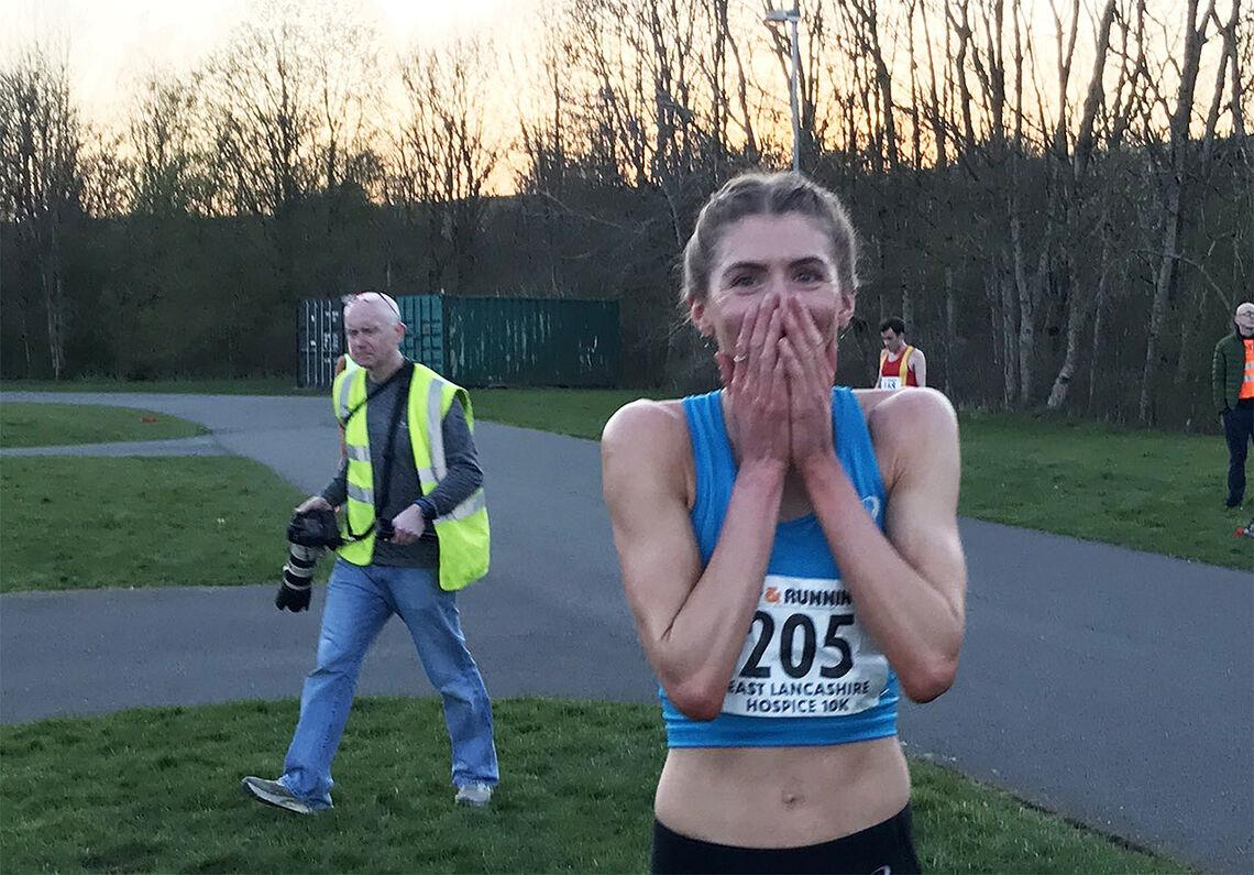 Hovedpersonen, Beth Potter, var omtrent like overraska over rekordløpet som alle andre (Foto: Beth Potters Facebook-side)